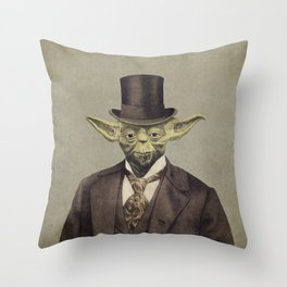 Sir Yodington  Throw Pillow