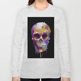 colorful skull black Long Sleeve T-shirt