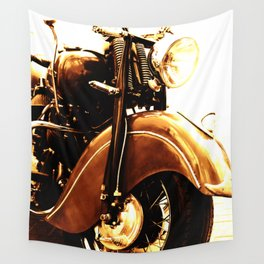Motorcycle-Sepia Wall Tapestry