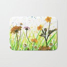 Flower Field Bath Mat
