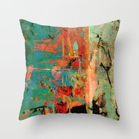 helen Throw Pillows featuring Trojan Horse by Fernando Vieira