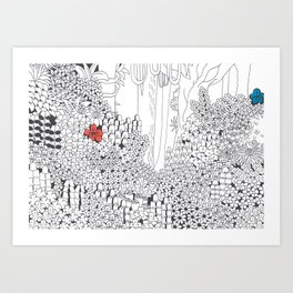Drawing Blanks Art Print