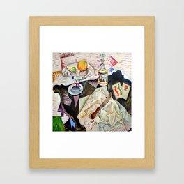 Joan Miro Spanish Playing Cards Framed Art Print