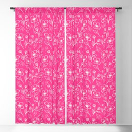 08 Small Flowers on Pink Blackout Curtain