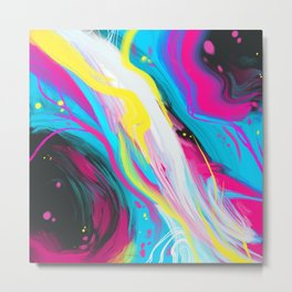 Abstract Electricity Metal Print