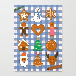 Gingerbread Cookies - Christmas delight Canvas Print