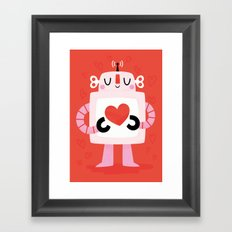 Love Robot Framed Art Print