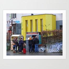 Old photo booth _755 (photo machines) Art Print