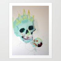hamlet Art Prints featuring Hamlet by James Penfield