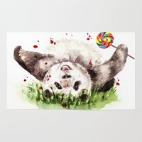 panda Area & Throw Rugs featuring Panda by Anna Shell