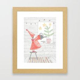 Growing a Christmas tree Framed Art Print