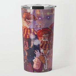 Hogsmeade Artur and Molly Travel Mug
