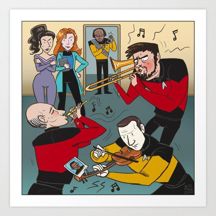 9b92cd290e19 Star Trek Jam Band Art Print by jessfink