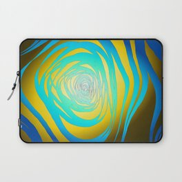 Simple Spiral Blue-Yellow Laptop Sleeve