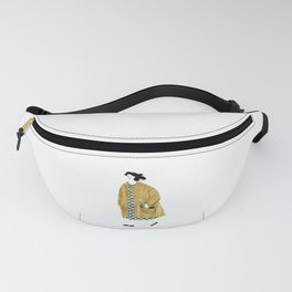 Girl Walking with Flowers Fanny Pack