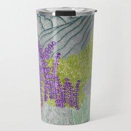 Floral Plants and Mountains Travel Mug