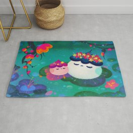 Water bloom / cuddlefish Rug