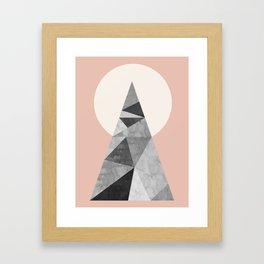 Polygon geometry XIII Framed Art Print