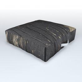 Black Wood Outdoor Floor Cushion