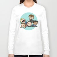 cyrilliart Long Sleeve T-shirts featuring Cutie Pile by Cyrilliart