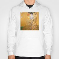 gustav klimt Hoodies featuring Gustav Klimt - The Woman in Gold by Elegant Chaos Gallery