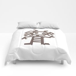 Rasta man Cave carving illustration Comforters