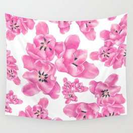 Spring pink poppies Wall Tapestry