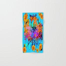 Blue Butterflies Sunflower Dreamscape Art Hand & Bath Towel