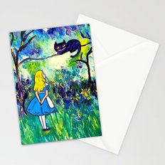 Alice in Wonderland Monet-style Stationery Cards