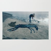 sea horse Area & Throw Rugs featuring Sea horse by Kestere