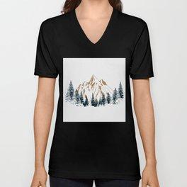 mountain # 4 Unisex V-Neck