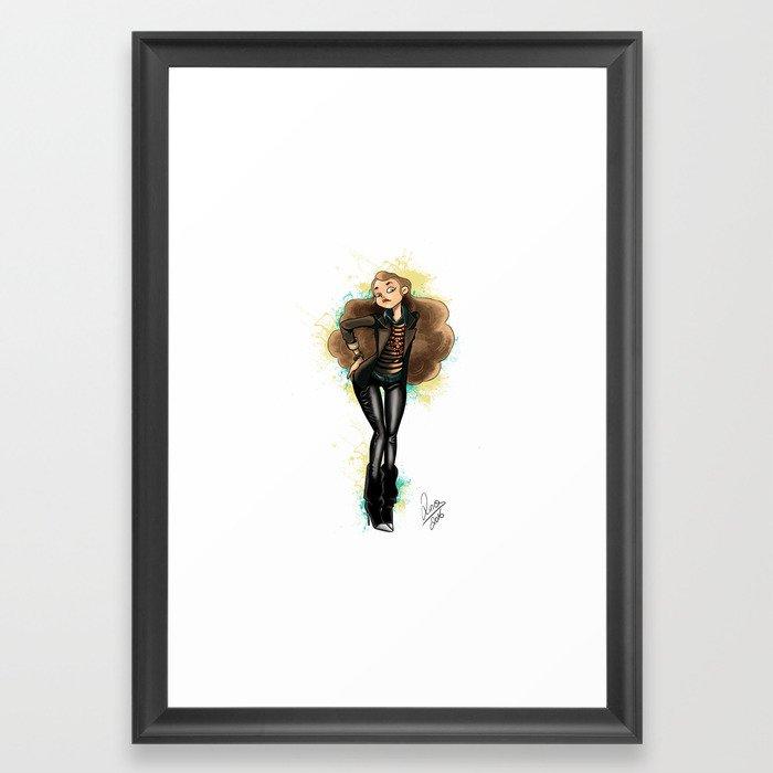 Pin up girl Framed Art Print