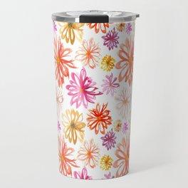 Painted Floral I Travel Mug