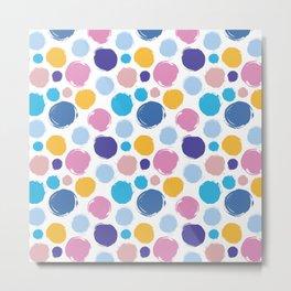 Colorful ink dots Metal Print