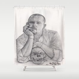 Alexander McQueen Savage Beauty Drawing Shower Curtain