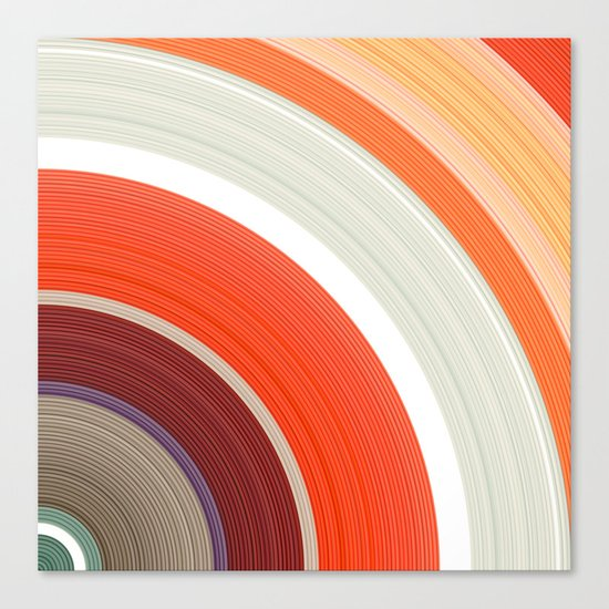 Shades of Orange Rings Canvas Print