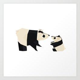 Origami Giant Panda Art Print