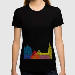 Lodz skyline pop T-shirt