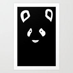 Black Panda Art Print