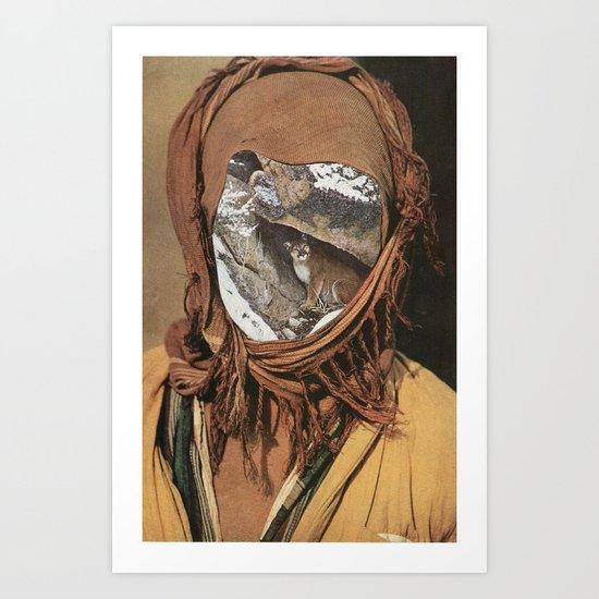 spirit of the mountain beast Art Print