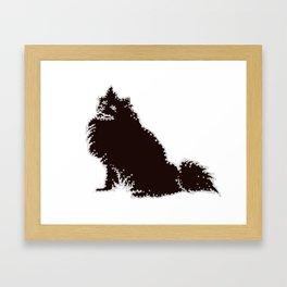 I have Connected the American Eskimo Dog Doggy Dots! Framed Art Print