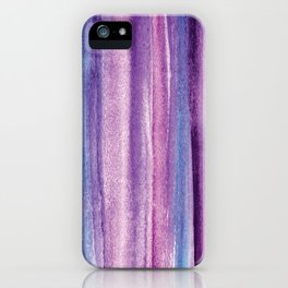 Purple Watercolor Stripes - Abstract iPhone Case