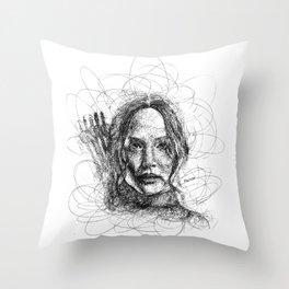 The Mockingjay Lives Throw Pillow