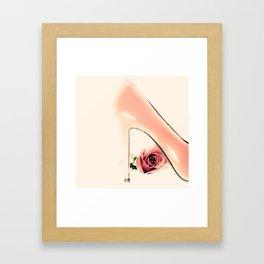 Pink Heel (Retro and Vintage Still Life Photography) Framed Art Print
