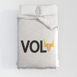 Volt being volt / One word creative typography design  Comforters