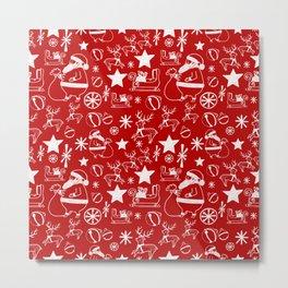 Santa at work Metal Print