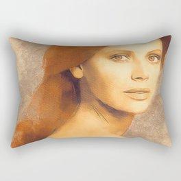 Britt Ekland, Movie Legend Rectangular Pillow