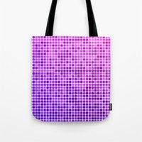 mosaic Tote Bags featuring Pink purple mosaic by David Zydd