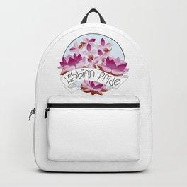 Lesbian Pride Flowers Backpack