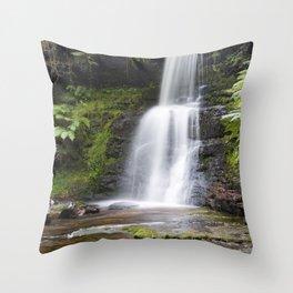 Blaen-y-glyn Waterfall 6 Throw Pillow
